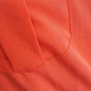 Speed Central Dresses - Tiger Orange Button Down Dress Size Medium